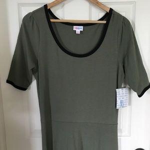 Lularoe Ana Maxi Dress NWT Olive with black
